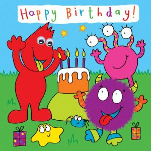 Childrens Birthday Card - Monster Party